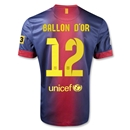 Barcelona 12/13 Messi Ballon d'Or Home Soccer Jersey