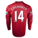 Manchester United 12/13 CHICHARITO LS Home Soccer Jersey