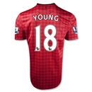 Manchester United 12/13 YOUNG Home Soccer Jersey