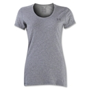 Under Armour Women's Charged Cotton Scoop T-Shirt (Gray)