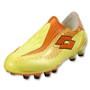 Lotto Zhero Gravity Ultra FG Soccer Shoes (Sun Yellow Mandarin Orange)