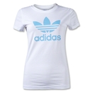 adidas Originals Women's adi Trefoil T-Shirt (White/Blue)