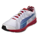 PUMA BOLT evoSpeed Runner (White/Limoges/Ribbon Red)
