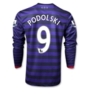 Arsenal 12/13 PODOLSKI LS Away Soccer Jersey