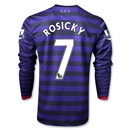 Arsenal 12/13 ROSICKY LS Away Soccer Jersey