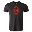 AC Milan Distressed Logo Men's Fashion T-Shirt (Black)