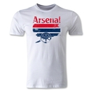 Arsenal Graphic Men's Fashion T-Shirt (White)