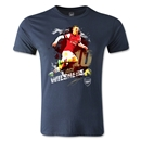 Arsenal Wilshere Player Men's Fashion T-Shirt (Navy)