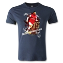 Arsenal Oxlade-Chamberlain Player Men's Fashion T-Shirt (Navy)