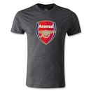 Arsenal Crest Men's Fashion T-Shirt (Dark Gray)