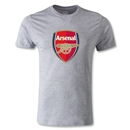 Arsenal Crest Men's Fashion T-Shirt (Gray)