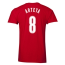 Arsenal Arteta 8 Men's Fashion T-Shirt (Red)