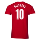 Arsenal Wilshere 10 Men's Fashion T-Shirt (Red)
