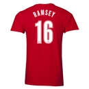 Arsenal Ramsey 16 Men's Fashion T-Shirt (Red)