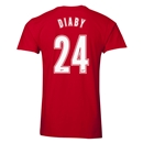 Arsenal Diaby 24 Men's Fashion T-Shirt (Red)