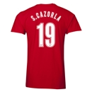 Arsenal S. Cazorla 19 Men's Fashion T-Shirt (Red)