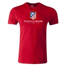 Atletico Madrid Crest Men's Fashion T-Shirt (Red)