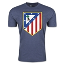 Atletico Madrid Crest Men's Fashion T-Shirt (Blue)