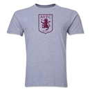 Aston Villa Distressed Club Logo Men's Fashion T-Shirt (Gray)