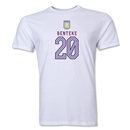 Aston Villa Benteke Men's Fashion T-Shirt (White)
