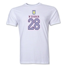 Aston Villa N'zogbia Men's Fashion T-Shirt (White)