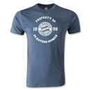 Bayern Munich Distressed Property Men's Fashion T_Shirt (Blue)