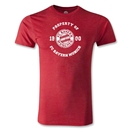 Bayern Munich Distressed Property Men's Fashion T-Shirt (Heather Red)