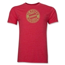 Bayern Munich Team Badge Men's Fashion T-Shirt (Heather Red)