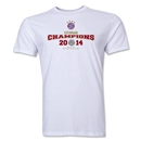 Bayern Munich 2014 Bundesliga Champions Men's Fashion T-Shirt (White)