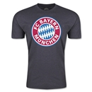 Bayern Munich Logo Men's Fashion T-Shirt (Dark Gray)