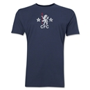 Chelsea Distressed Retro Men's Fashion T-Shirt (Navy)