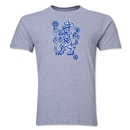 Chelsea Rampant Lion Men's Fashion T-Shirt (Grey)