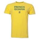 French Guiana CONCACAF Distressed Men's Fashion T-Shirt (Yellow)