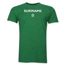 Suriname CONCACAF Distressed Men's Fashion T-Shirt (Green)