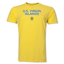 US Virgin Islands CONCACAF Distressed Men's Fashion T-Shirt (Yellow)