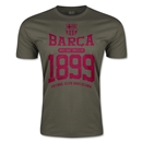 FC Barcelona Barca 1899 Men's Fashion T-Shirt (Dark Green)
