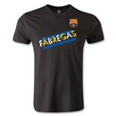 Barcelona Fabregas Men's Fashion T-Shirt (Black)