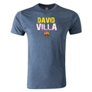 Barcelona David Villa Men's Fashion T-Shirt (Blue)