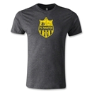FC Nantes Distressed Crest Men's Fashion T-Shirt (Dark Gray)