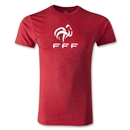 France FFF Men's Fashion T-Shirt (Heather Red)