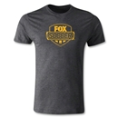 Fox Soccer Distressed Men's Fashion T-Shirt (Dark Gray)
