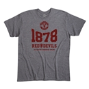 Manchester United 1878 Men's Fashion T-Shirt (Dark Gray)