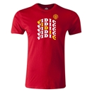 Manchester United Vidic Men's Fashion T-Shirt (Red)