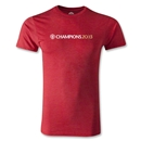Manchester United 2013 Champions Men's Fashion T-Shirt (Heather Red)
