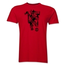 Manchester United Plaid Devil Men's Fashion T-Shirt (Red)