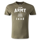 Newcastle United Toon Army Men's Fashion T-Shirt (Olive Green)