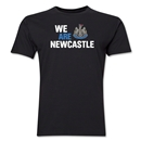 Newcastle United We Are Newcastle Men's Fashion T-Shirt (Black)