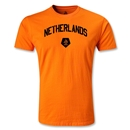 Netherlands Distressed Men's Fashion T-Shirt (Orange)