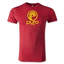 Puro Futebol Distressed Circle Logo T-Shirt (Red)