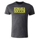 Romania Soccer Supporter Men's Fashion T-Shirt (Dark Gray)